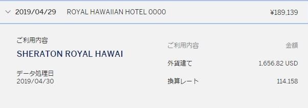 ロイヤルハワイアンホテルのお得な宿泊費