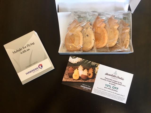ハワイアン航空ビジネスクラスのホノルルクッキーカンパニー