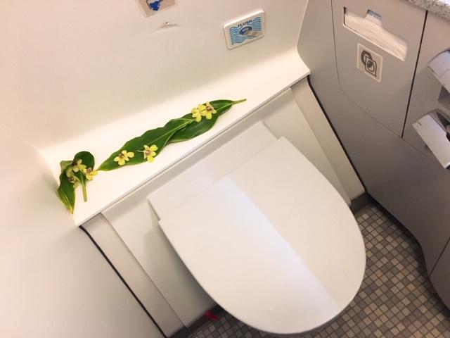 ハワイアン航空トイレ