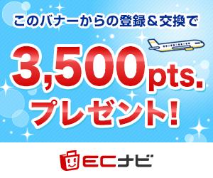 ECナビ登録で350円