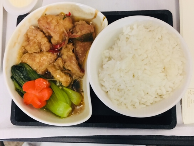 キャセイビジネスクラス機内食