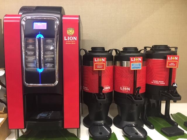 ハワイアン航空プルメリアラウンジのライオンコーヒー