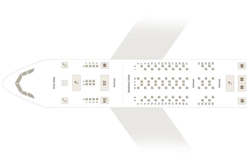 エミレーツA380ファーストクラスのシートマップ