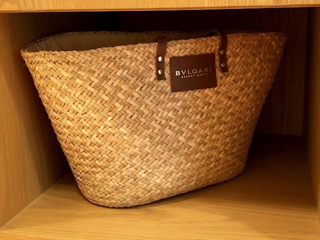 ブルガリホテルドバイの無料バッグ
