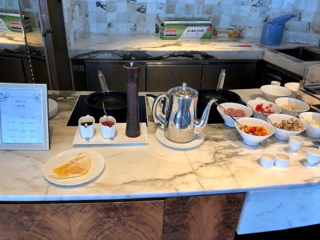 リッツカールトン香港のクラブラウンジの朝食