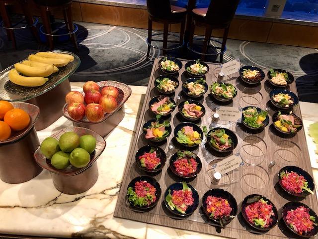 リッツカールトン香港のクラブラウンジのディナー