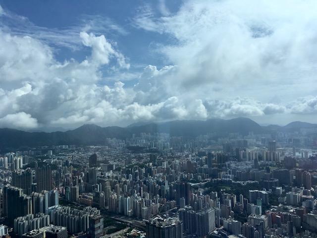 リッツカールトン香港のスイートルームの眺望