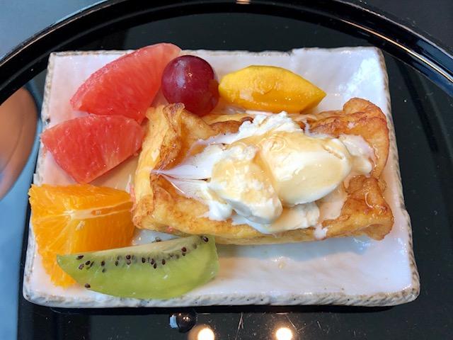 羽田キャセイラウンジのフレンチトースト