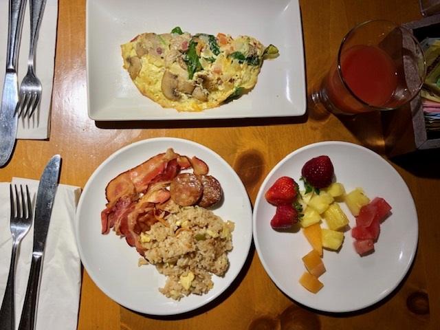 ヒルトンガーデンインワイキキビーチの朝食