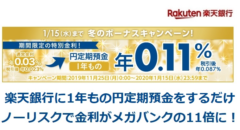 楽天銀行円定期預金キャンペーン