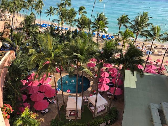 ロイヤルハワイアンホテルのプール
