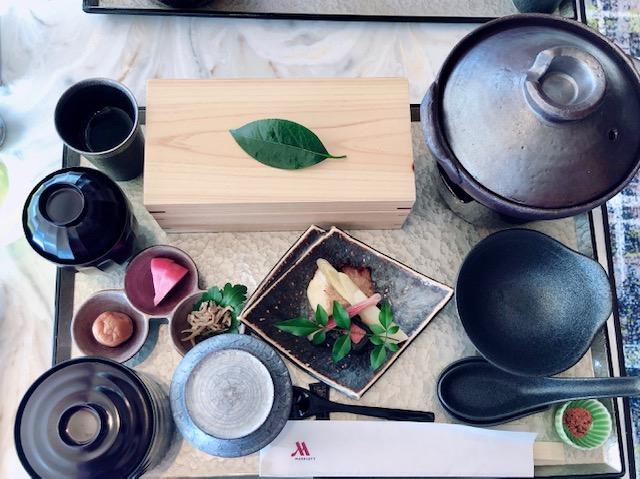 名古屋マリオットのコンシェルジュラウンジの和定食