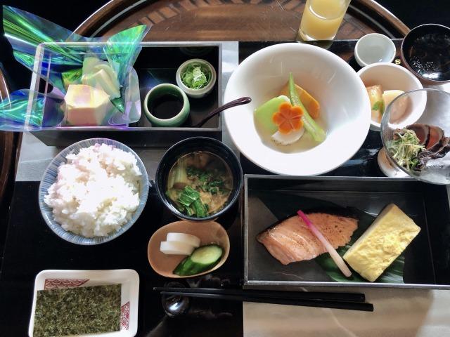 セントレジス大阪の和朝食膳