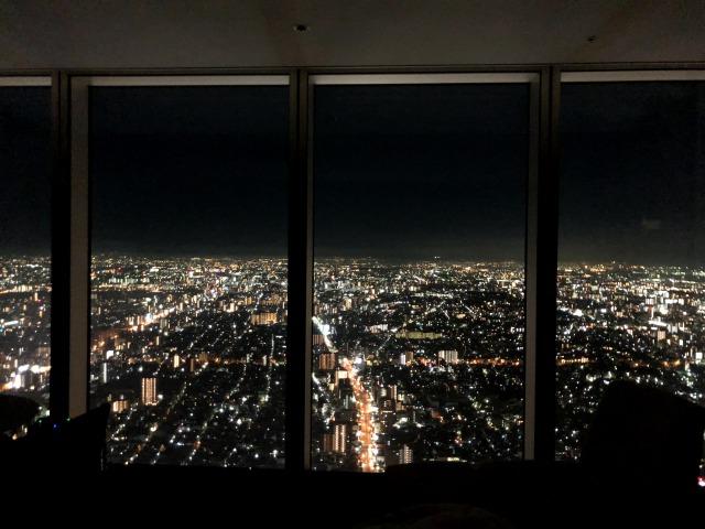 大阪マリオット都ホテル夜景