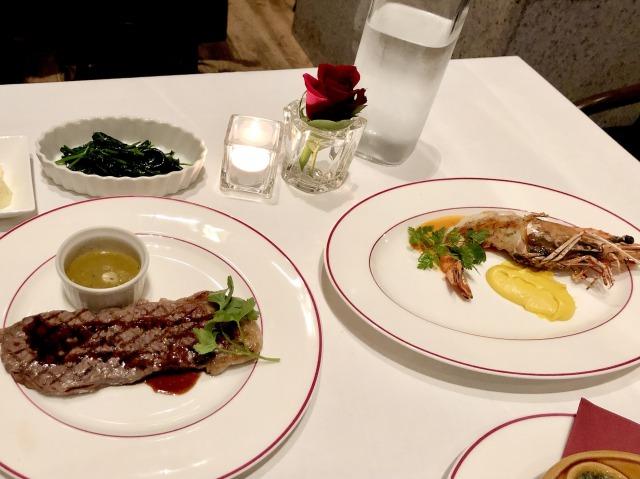 セントレジスホテル大阪ルドールのディナー
