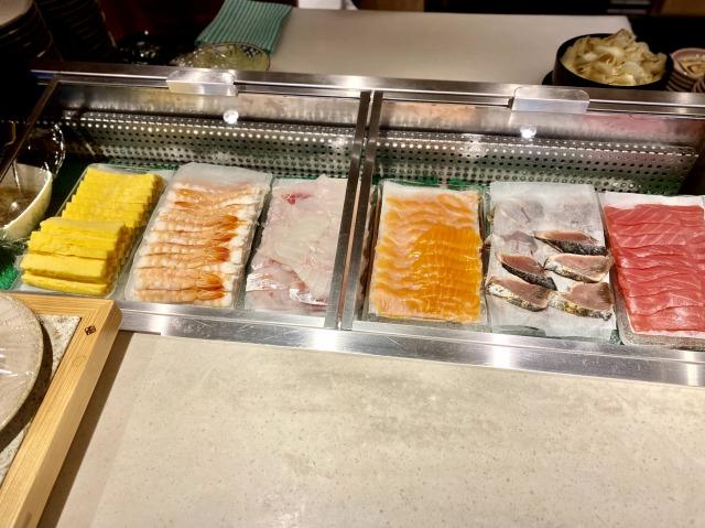 ウェスティン京都  洛空ディナーブッフェの握り寿司